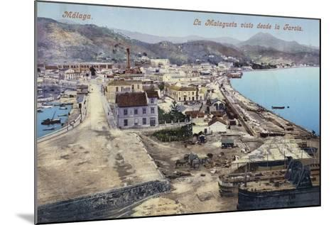 District of La Malagueta Viewed from the Lighthouse, Malaga, Spain--Mounted Photographic Print