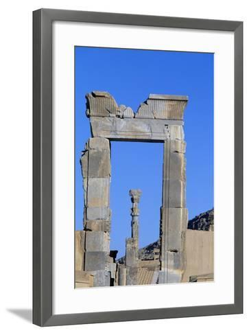 One of Doors to Throne Room or Room of Hundred Columns, Persepolis--Framed Art Print