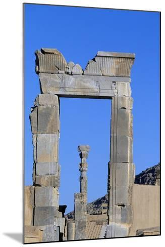 One of Doors to Throne Room or Room of Hundred Columns, Persepolis--Mounted Photographic Print