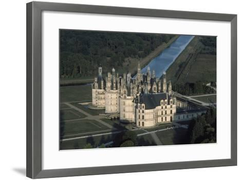 France, Loire Valley, Aerial View of Chateau De Chambord--Framed Art Print