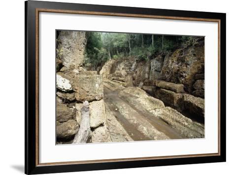 Way of Underworld, Etruscan Necropolis of Banditaccia--Framed Art Print