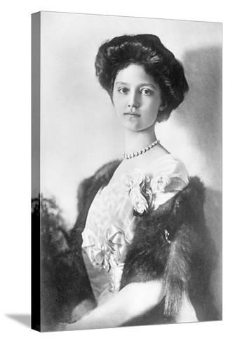 Zita, H.R.H. Empress of Austria, Princess of Bourbon and Parma, 1914--Stretched Canvas Print