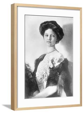 Zita, H.R.H. Empress of Austria, Princess of Bourbon and Parma, 1914--Framed Art Print