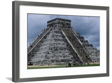 The Pyramid in Kukulkan known as the Castle in Chichen Itza--Framed Art Print