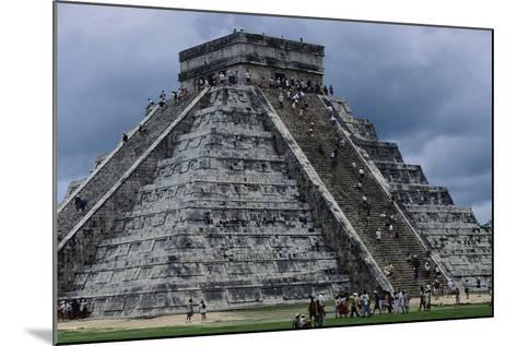 The Pyramid in Kukulkan known as the Castle in Chichen Itza--Mounted Photographic Print
