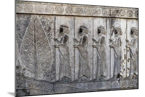 Bas-Relief Depicting Susian Guards, Apadana, Persepolis--Mounted Photographic Print