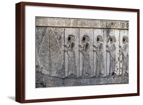 Bas-Relief Depicting Susian Guards, Apadana, Persepolis--Framed Art Print