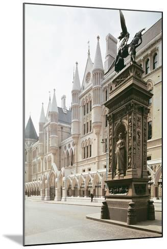 Law Courts, London: Exterior View, Designed by George Edmund Street--Mounted Photographic Print