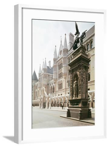 Law Courts, London: Exterior View, Designed by George Edmund Street--Framed Art Print