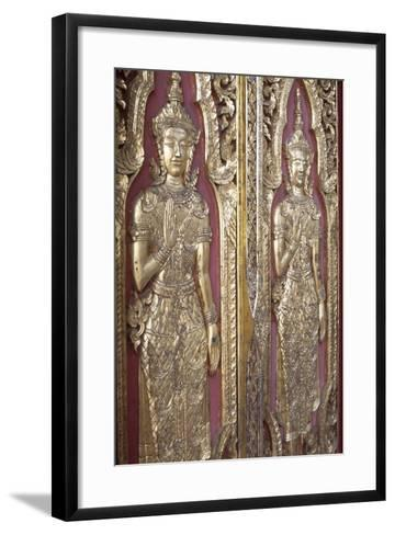 Detail of Decoration from Temples Ruins in Ayutthaya--Framed Art Print