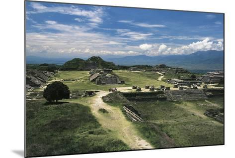 Central Square and View of Archaeological Site of Monte Alban--Mounted Photographic Print