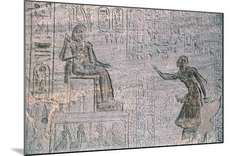 Small Temple of Hathor, Dedicated to Queen Nefertari, Abu Simbel--Mounted Photographic Print