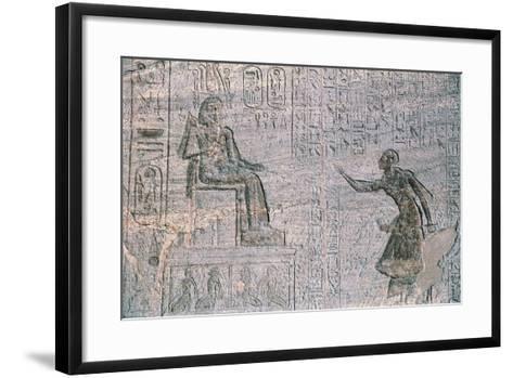 Small Temple of Hathor, Dedicated to Queen Nefertari, Abu Simbel--Framed Art Print