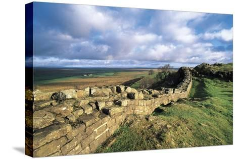 View of Hadrian's Wall, Walltown Crags, Hadrian's Wall--Stretched Canvas Print