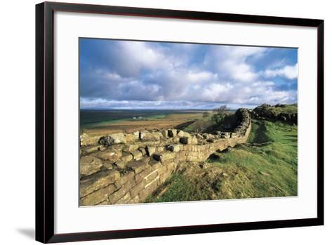 View of Hadrian's Wall, Walltown Crags, Hadrian's Wall--Framed Art Print
