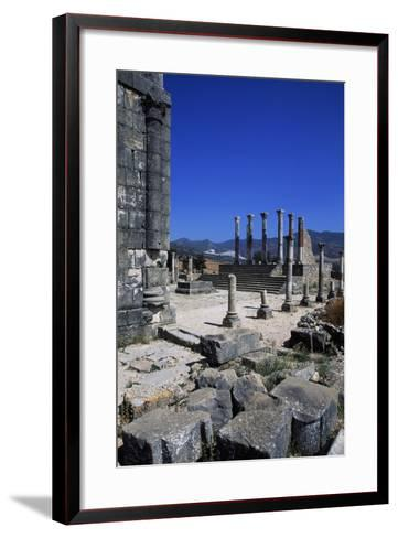 Ruins of Capitoline Temple, Roman City of Volubilis--Framed Art Print
