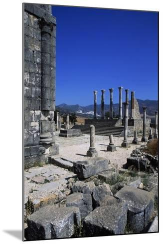 Ruins of Capitoline Temple, Roman City of Volubilis--Mounted Photographic Print