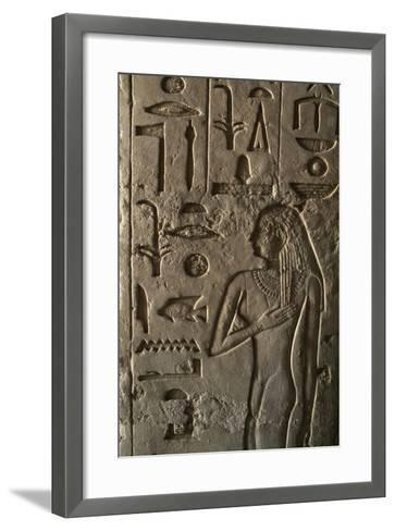 Bas Relief, Ptahshepses Tomb, Tombs of Pyramid Builders, Giza Necropolis--Framed Art Print