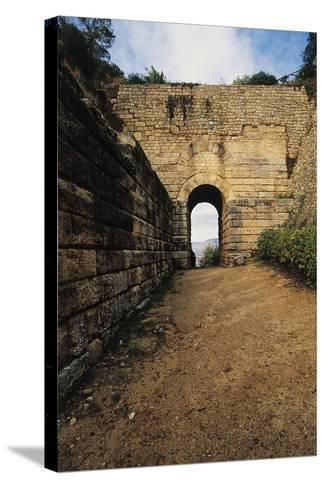 Pink Door, Archaeological Excavations at Velia Elea--Stretched Canvas Print