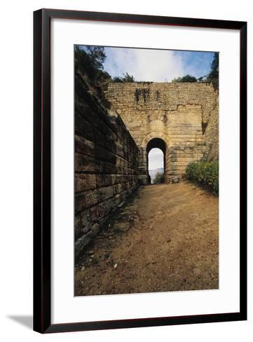 Pink Door, Archaeological Excavations at Velia Elea--Framed Art Print