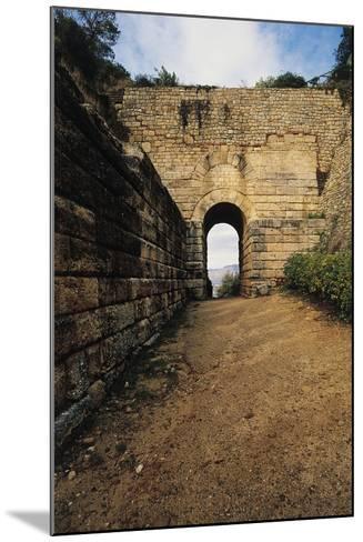 Pink Door, Archaeological Excavations at Velia Elea--Mounted Photographic Print
