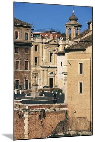 View of Piazza Di St Bartholomew on Island, Tiber Island, Rome--Mounted Photographic Print