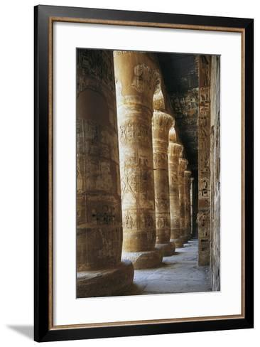 Portico of Courtyard, Temple of Ramesses III, Medinet Habu, Thebes--Framed Art Print