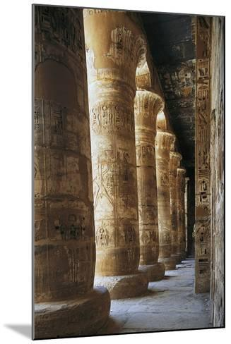 Portico of Courtyard, Temple of Ramesses III, Medinet Habu, Thebes--Mounted Photographic Print