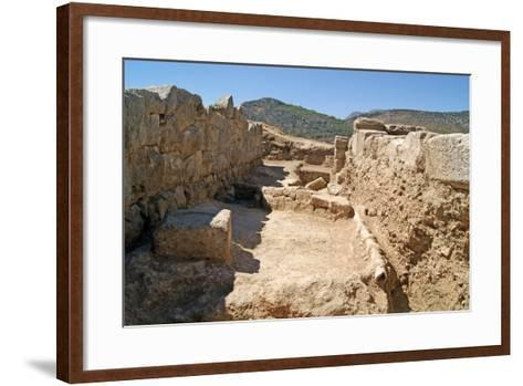 Earthenware Water Pipes in the Xanthos Theatre, Xanthos, Turkey--Framed Art Print