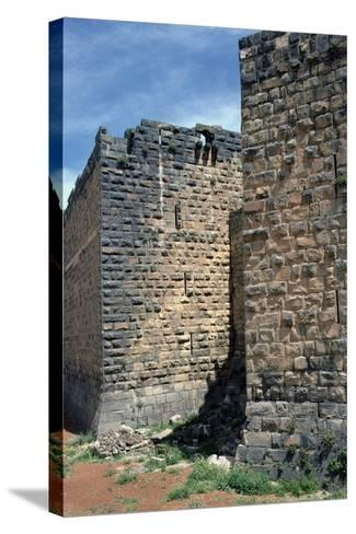 Fortress Wall with Sections of Roman Column, C.12th-13th Century--Stretched Canvas Print