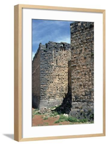 Fortress Wall with Sections of Roman Column, C.12th-13th Century--Framed Art Print