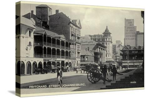 Postcard Depicting Pritchard Street in Johannesburg--Stretched Canvas Print