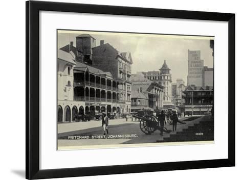 Postcard Depicting Pritchard Street in Johannesburg--Framed Art Print