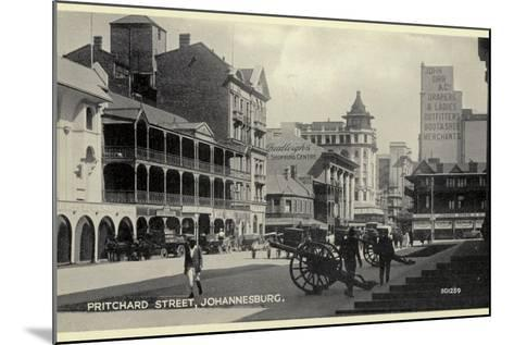 Postcard Depicting Pritchard Street in Johannesburg--Mounted Photographic Print