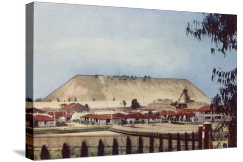Postcard Depicting a General View of a Tailings Heap at a Mine--Stretched Canvas Print
