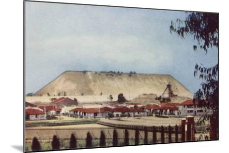 Postcard Depicting a General View of a Tailings Heap at a Mine--Mounted Photographic Print