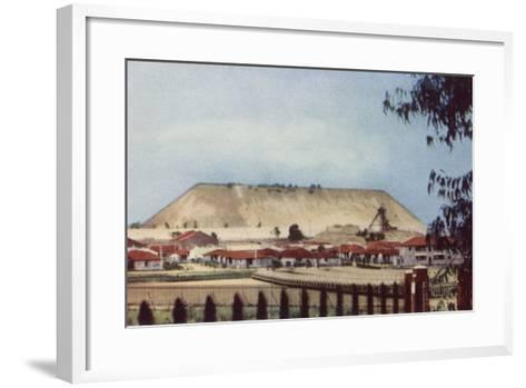 Postcard Depicting a General View of a Tailings Heap at a Mine--Framed Art Print