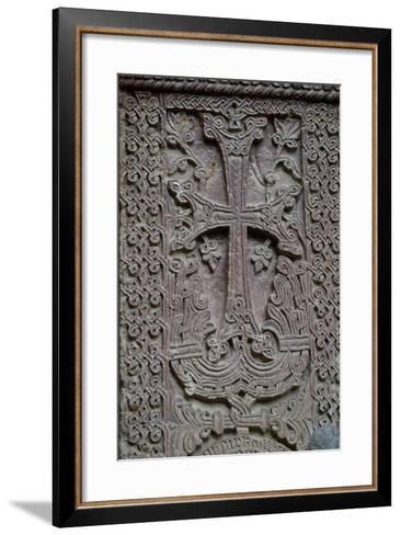 Armenia, Khachar or Historiated Tombstone from Monastery of Geghard--Framed Art Print
