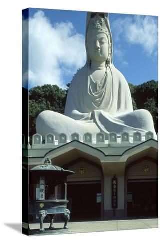 Detail of the Facade of the Ryozen Kannon Buddhist Temple in Kyoto--Stretched Canvas Print