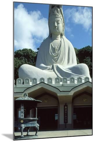 Detail of the Facade of the Ryozen Kannon Buddhist Temple in Kyoto--Mounted Photographic Print