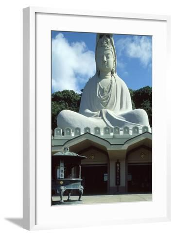Detail of the Facade of the Ryozen Kannon Buddhist Temple in Kyoto--Framed Art Print