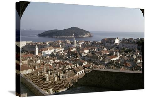 View of the City and the Harbour from the Minceta Tower--Stretched Canvas Print