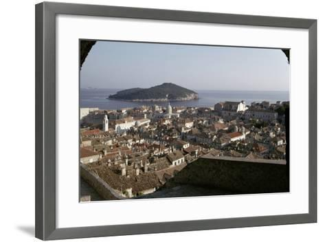 View of the City and the Harbour from the Minceta Tower--Framed Art Print