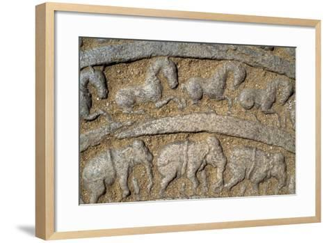 Sri Lanka, Polonnaruwa, Vatadage, Moonstone Decorated--Framed Art Print