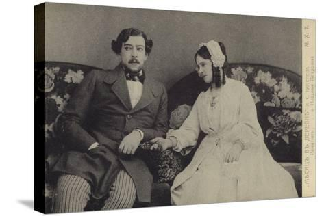 Constantin Stanislavski and Olga Knipper, Russian Actors--Stretched Canvas Print