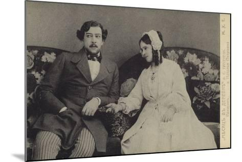 Constantin Stanislavski and Olga Knipper, Russian Actors--Mounted Photographic Print