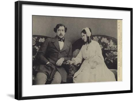 Constantin Stanislavski and Olga Knipper, Russian Actors--Framed Art Print