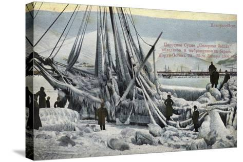 Wreck of the North Star, Novorossiysk, Russia, January 1907--Stretched Canvas Print