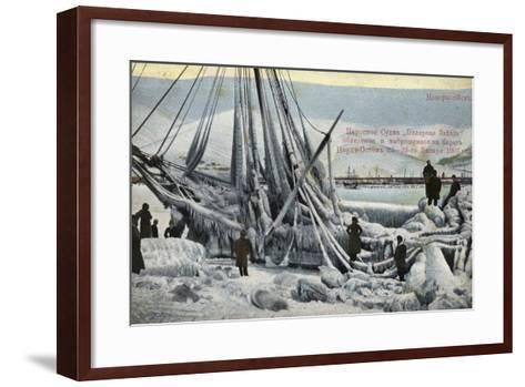 Wreck of the North Star, Novorossiysk, Russia, January 1907--Framed Art Print