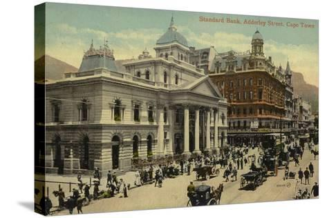 Postcard Depicting the Standard Bank on Adderley Street--Stretched Canvas Print